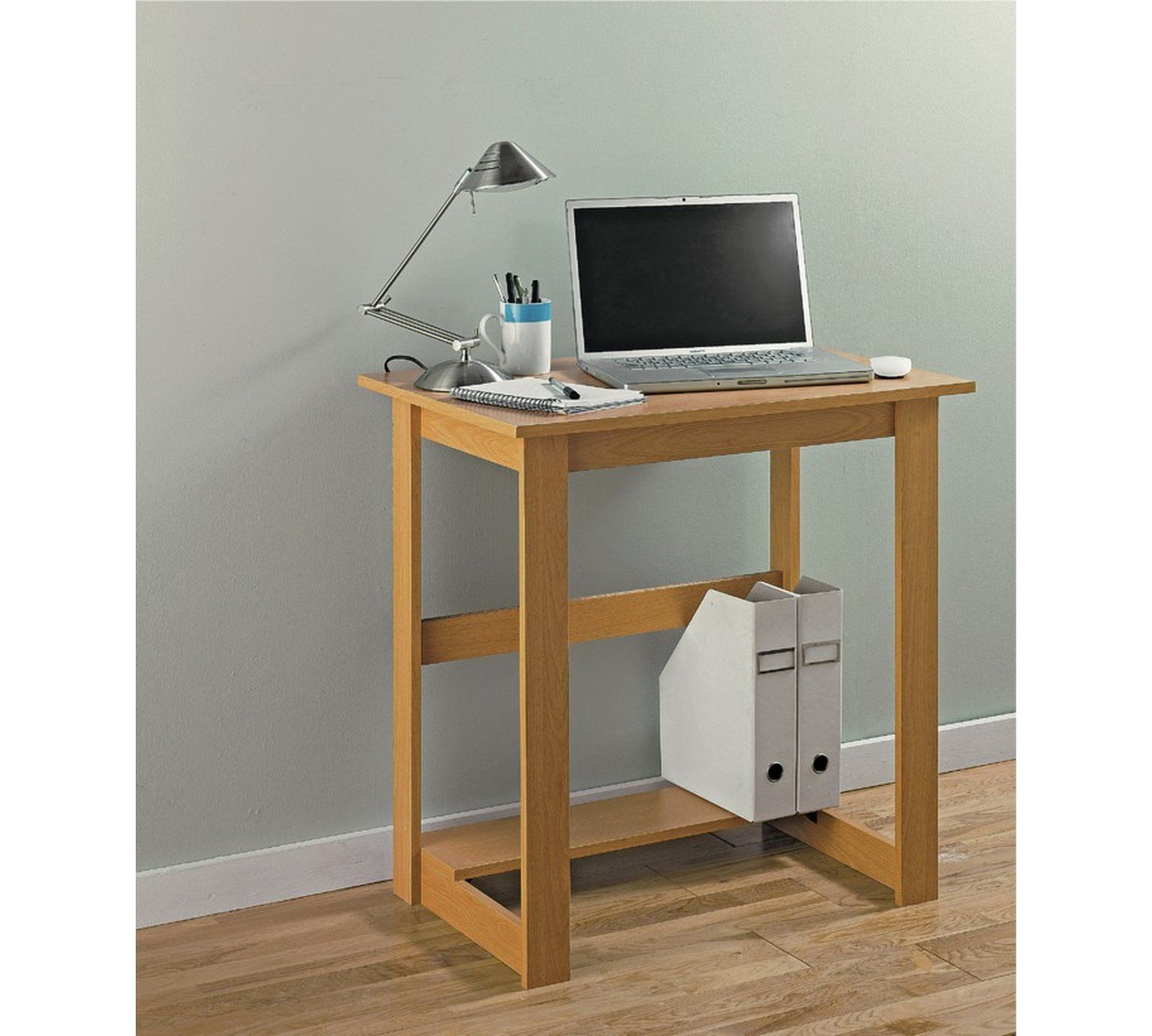 Buy Office Desk  Beech Effect - Desks And Workstations