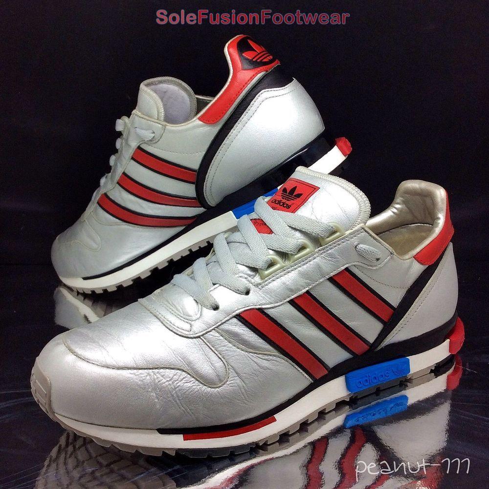 adidas originali mens rising star formatori silver / red sz 8 ltd