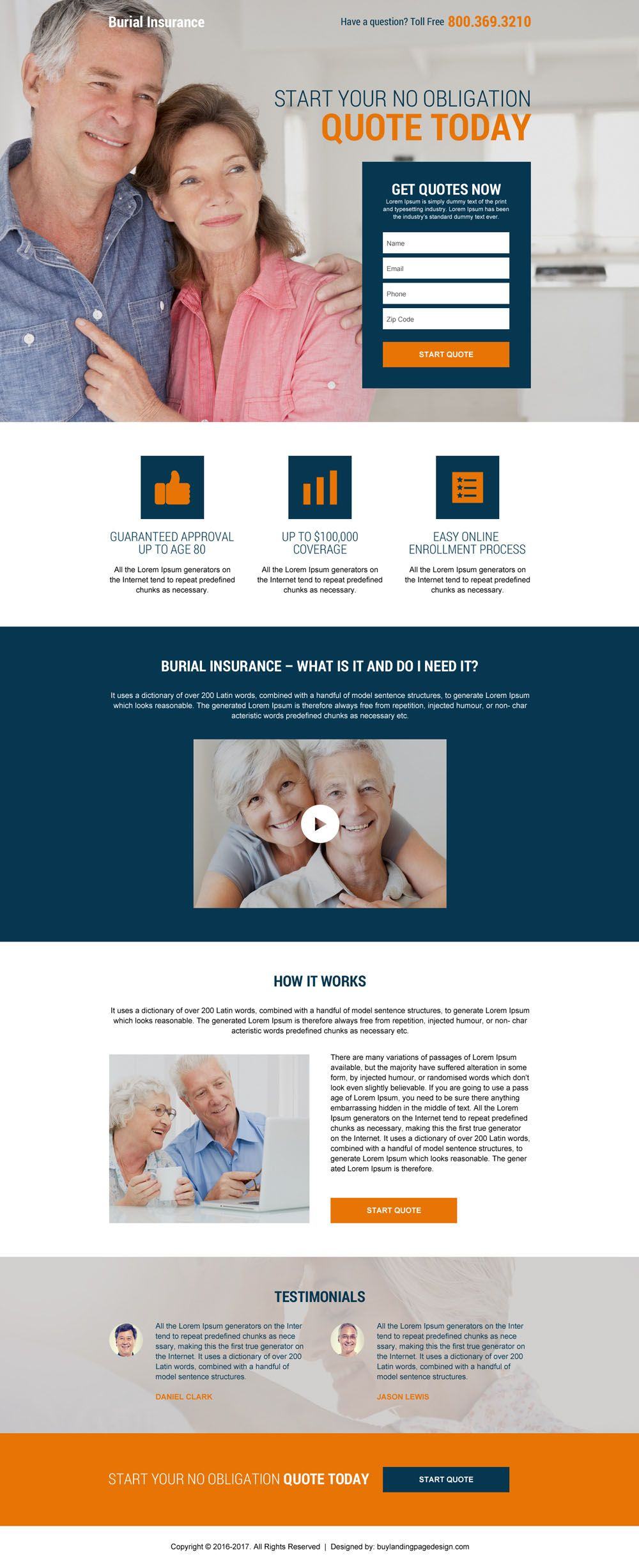 Download Burial And Final Expense Insurance Responsive Landing