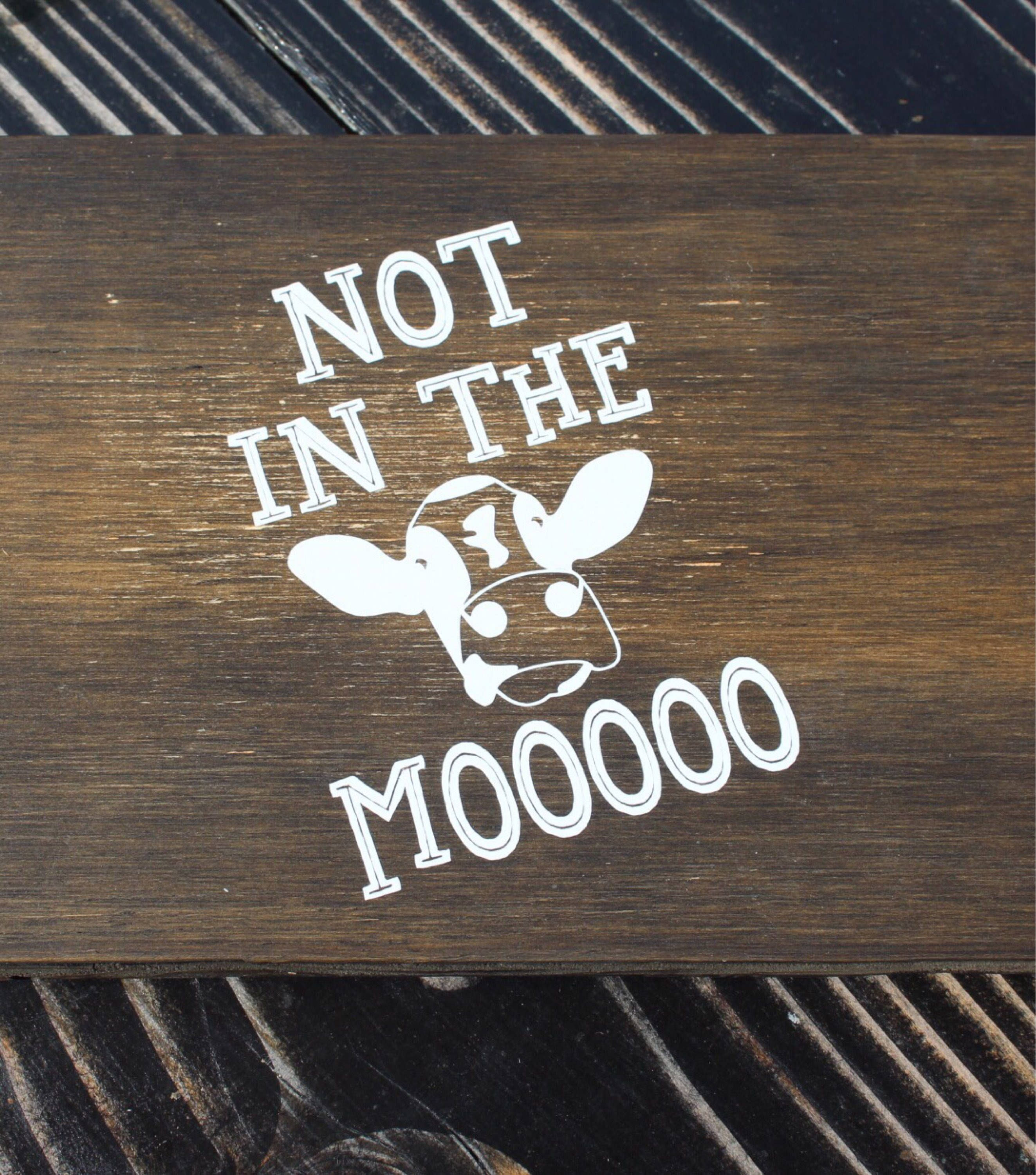 Not In The Moooo Funny Car Decal Cow Decal Farm Jokes Unique - Unique car window decals
