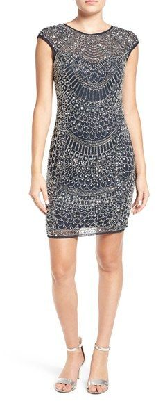 LACE & BEADS Embellished Body-Con Dress