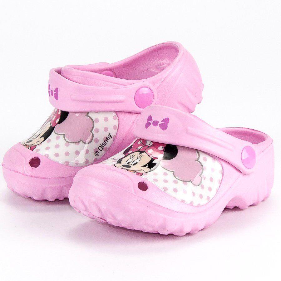 Klapki Dla Dzieci Butymodne Rozowe Gumowe Klapki Myszka Miki Butymodne Baby Shoes Fashion Shoes