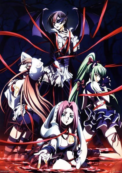 Anime Picture 2970x4200 With Code Geass Sunrise Studio Cc Lelouch Lamperouge Kallen Stadtfeld Shirley Fenette Long Hair Tall Image Short Highres