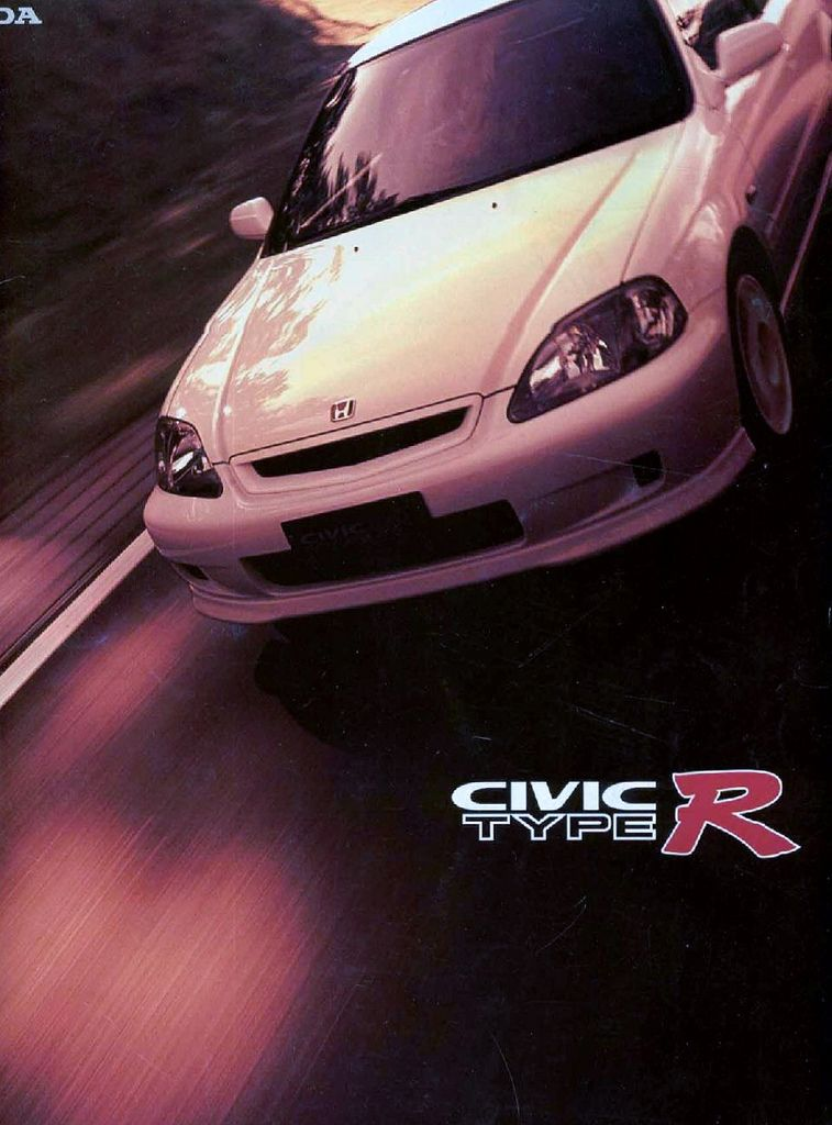 Honda Civic Mk6 Type R Japan Brochure 1998 Honda Civic Sedan Honda Civic Hatchback Honda Civic Coupe