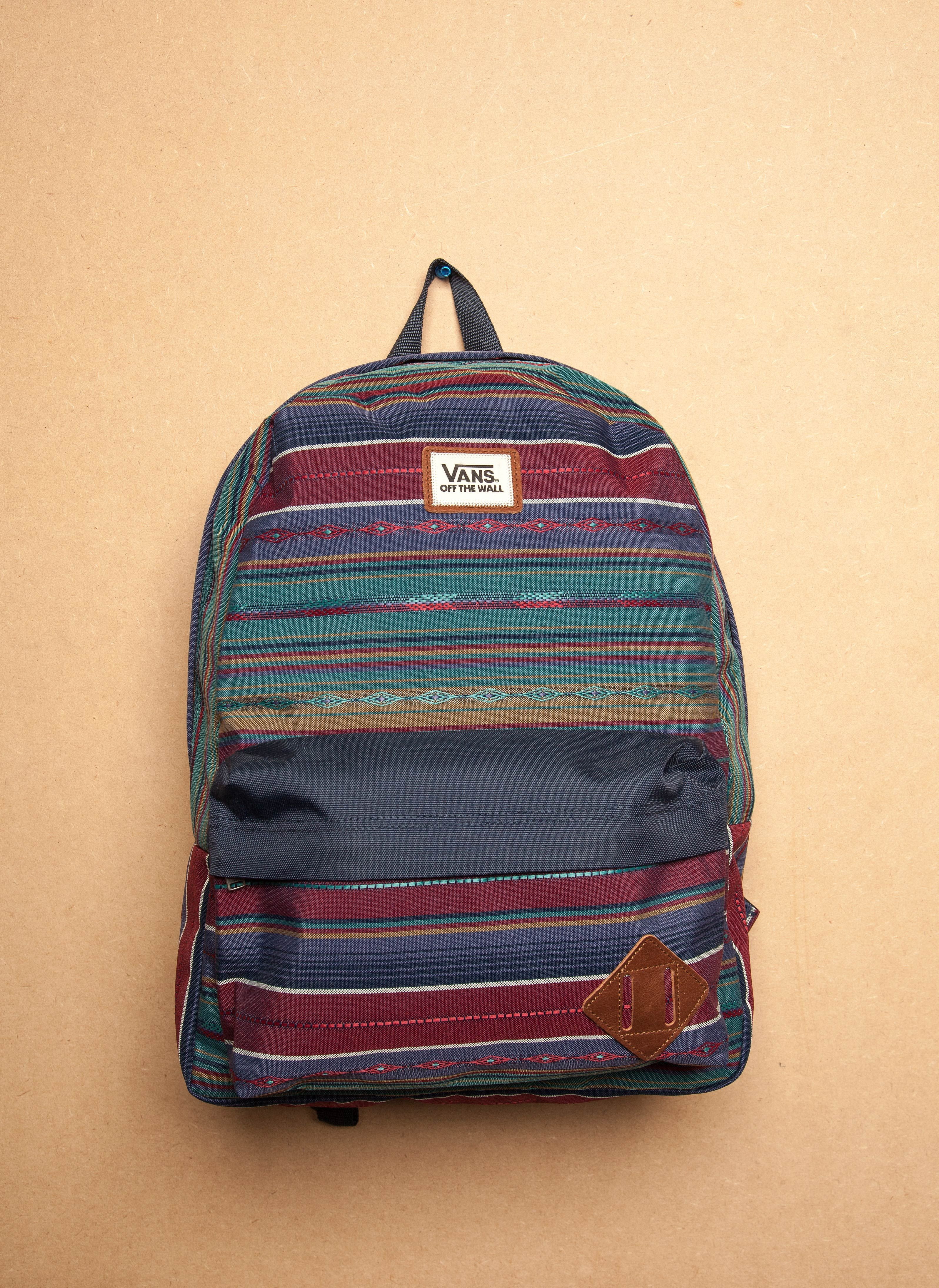 bd20124dd029f9 Get ready for summer adventures with the Vans Old Skool multi coloured  backpack