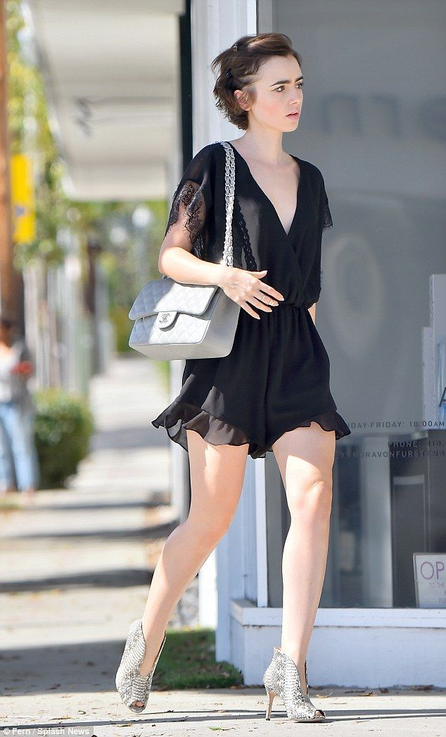 3ffe518bf20 Stylish  The actress flashed her long legs in the girlie romper.