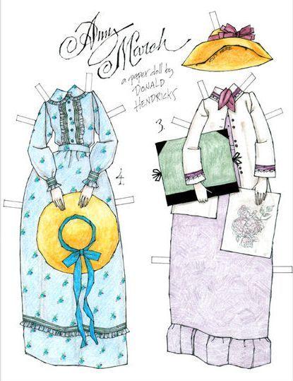 Little Women: Amy March | Gabi's Paper Dolls