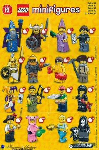 YOU CHOOSE FROM LIST 71007 USED CMF LEGO COLLECTABLE MINIFIGURES SERIES 12