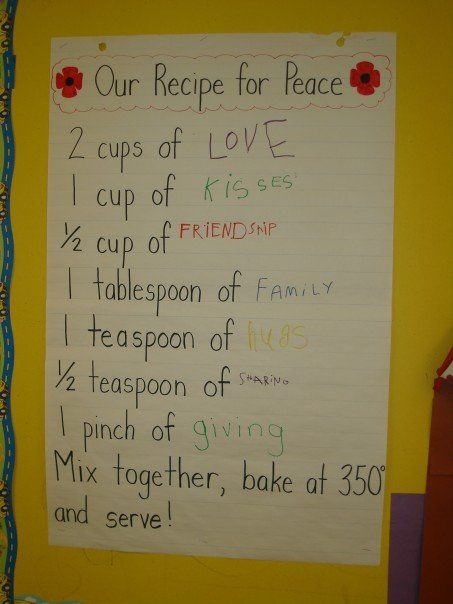 Remembrance Day recipe for peace #remembrancedaycraftsforkids