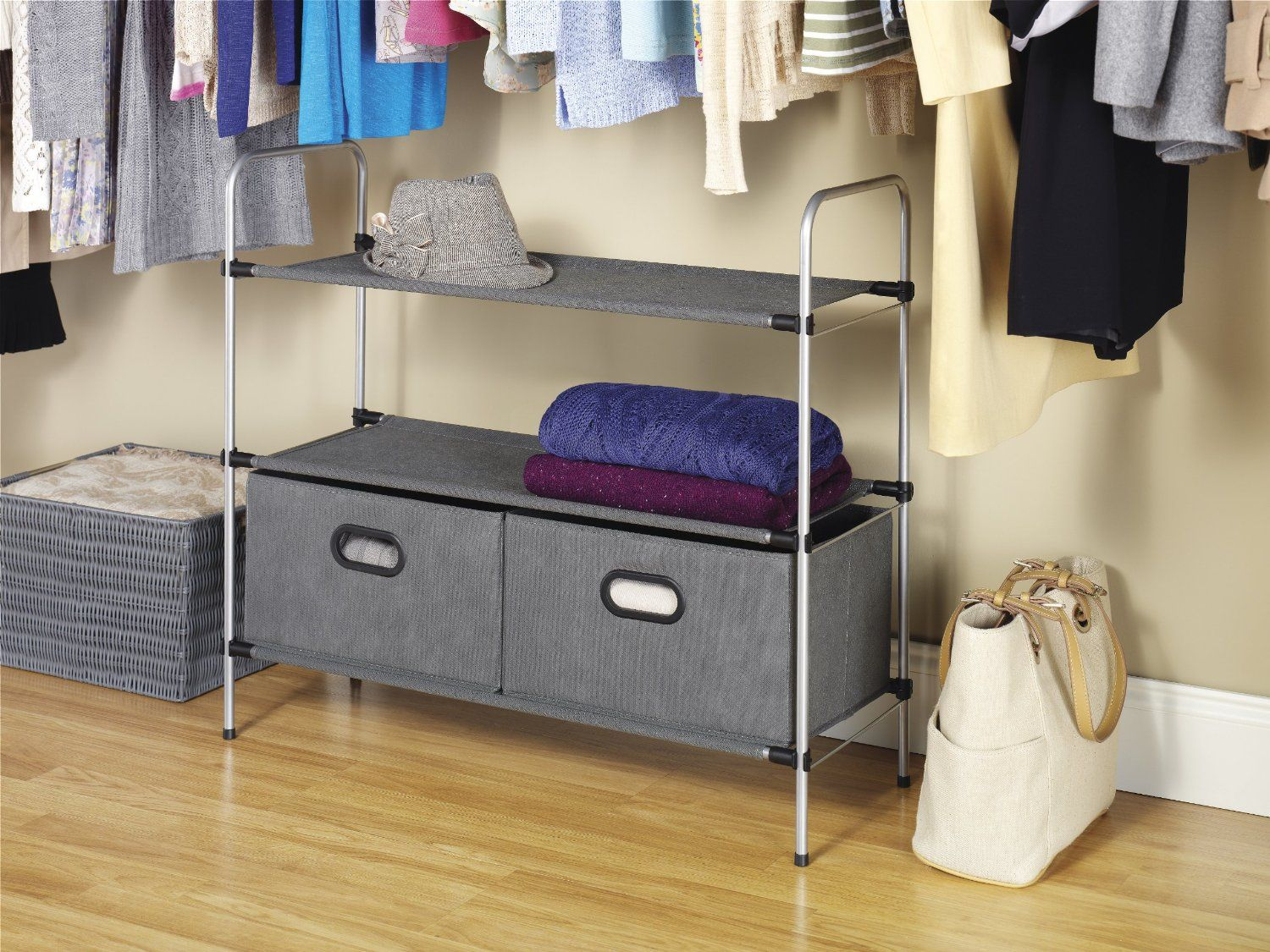 Wonderful Sophisticate By Whitmor Silver U0026 Grey Closet Shelves U0026 Drawers On HauteLook