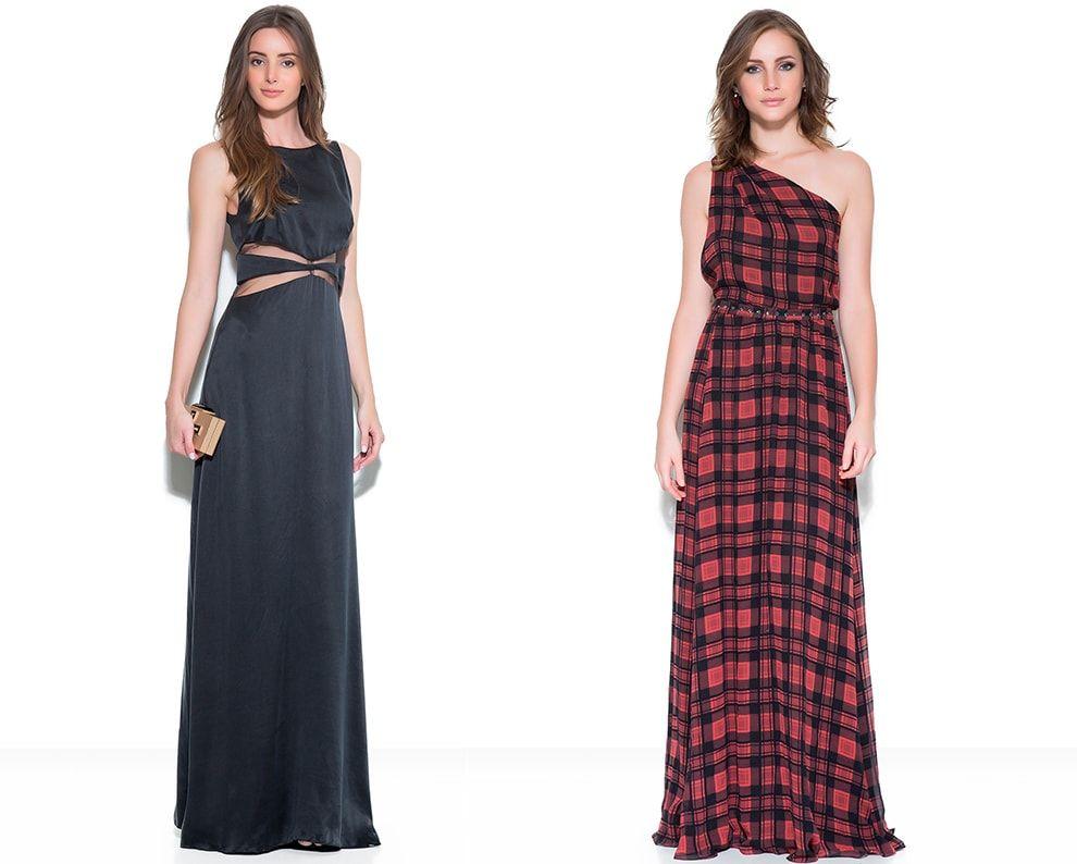 Muito vestido longo preto e vestido longo xadrez | Longos | Pinterest  GB49