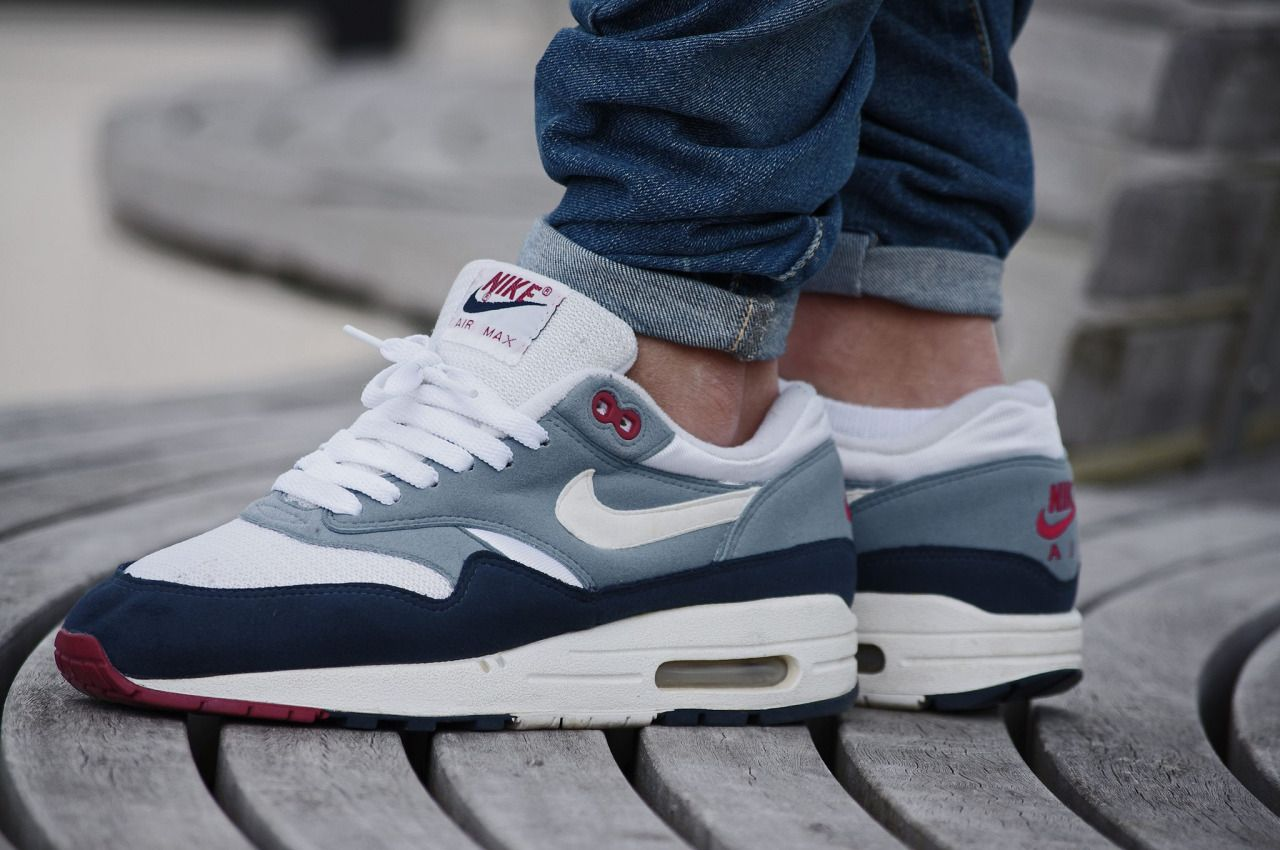buy popular 52a17 32f15 sweetsoles  Nike Air Max 1  Greystone  (by... – Sweetsoles – Sneakers,  kicks and trainers. On feet.