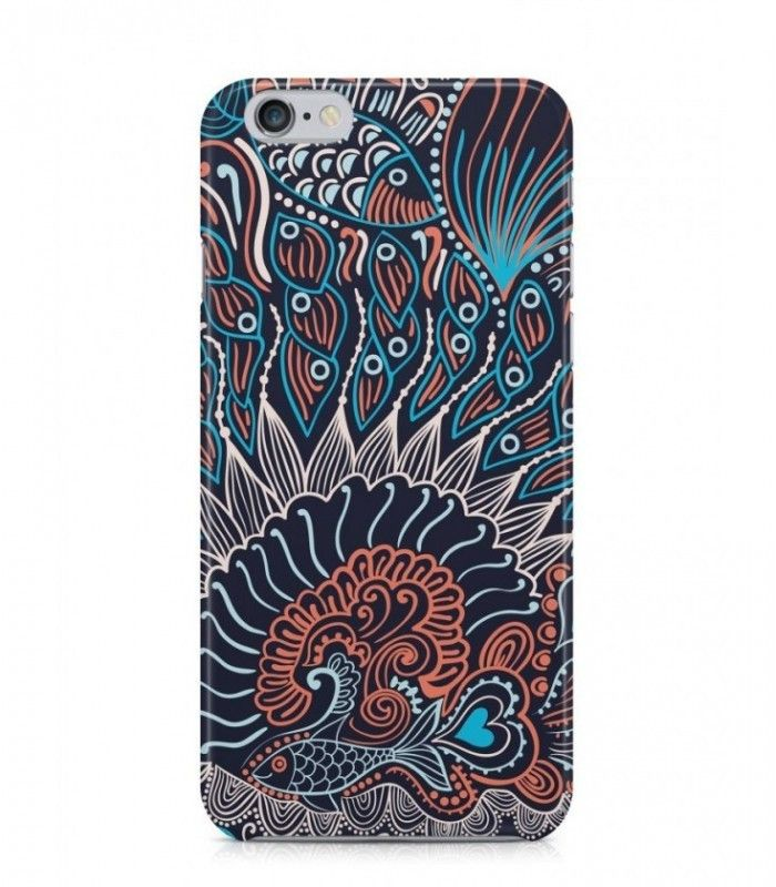Purple Fishes Abstract Seamless 3D Iphone Case For Iphone