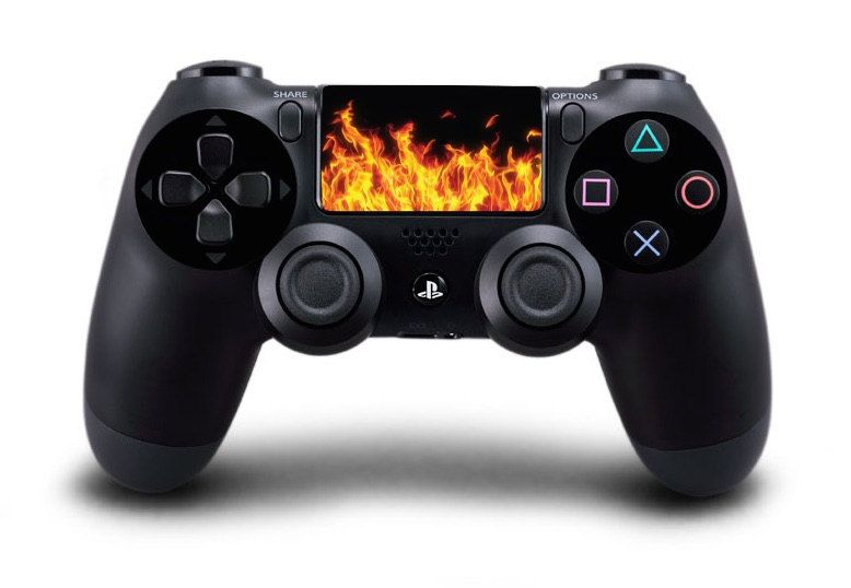Flames playstation 4 ps4 controller touchpad decal foto