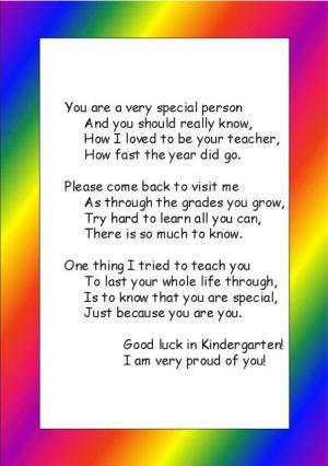 What Do We Really Know About Pre K >> Preschool Or Kindergarten Graduation Poem Pre K Graduation