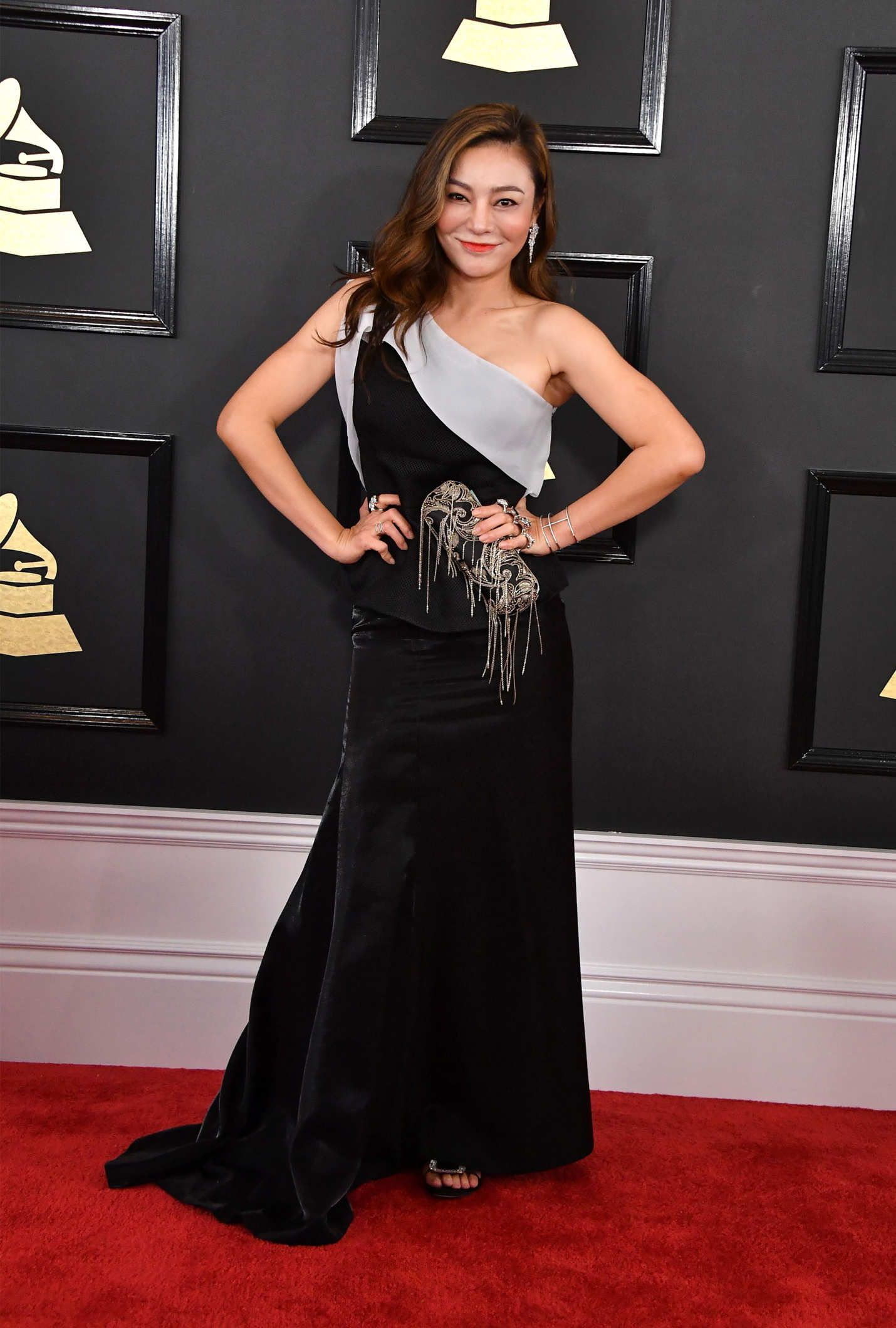 Diana gordon on red carpet grammy awards in los angeles new images