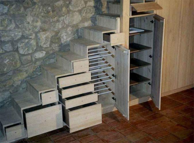 U g se coloca el mueble escalera en la reforma del duplex escaleras muebles bajo - Escaleras para duplex ...