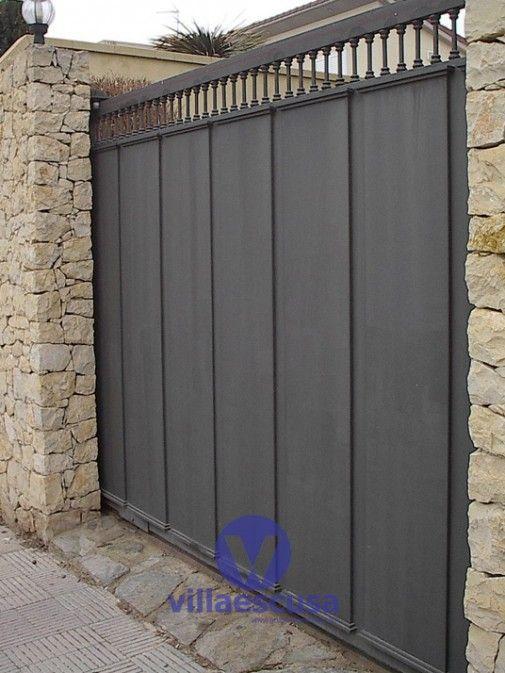 Puerta de hierro 030 herreria pinterest puertas de for Puertas correderas hierro exterior