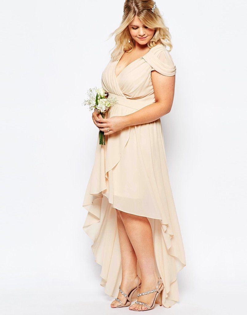 Cheap high low wedding dresses   Lovely and Affordable Wedding Dresses For Ladies With Curves