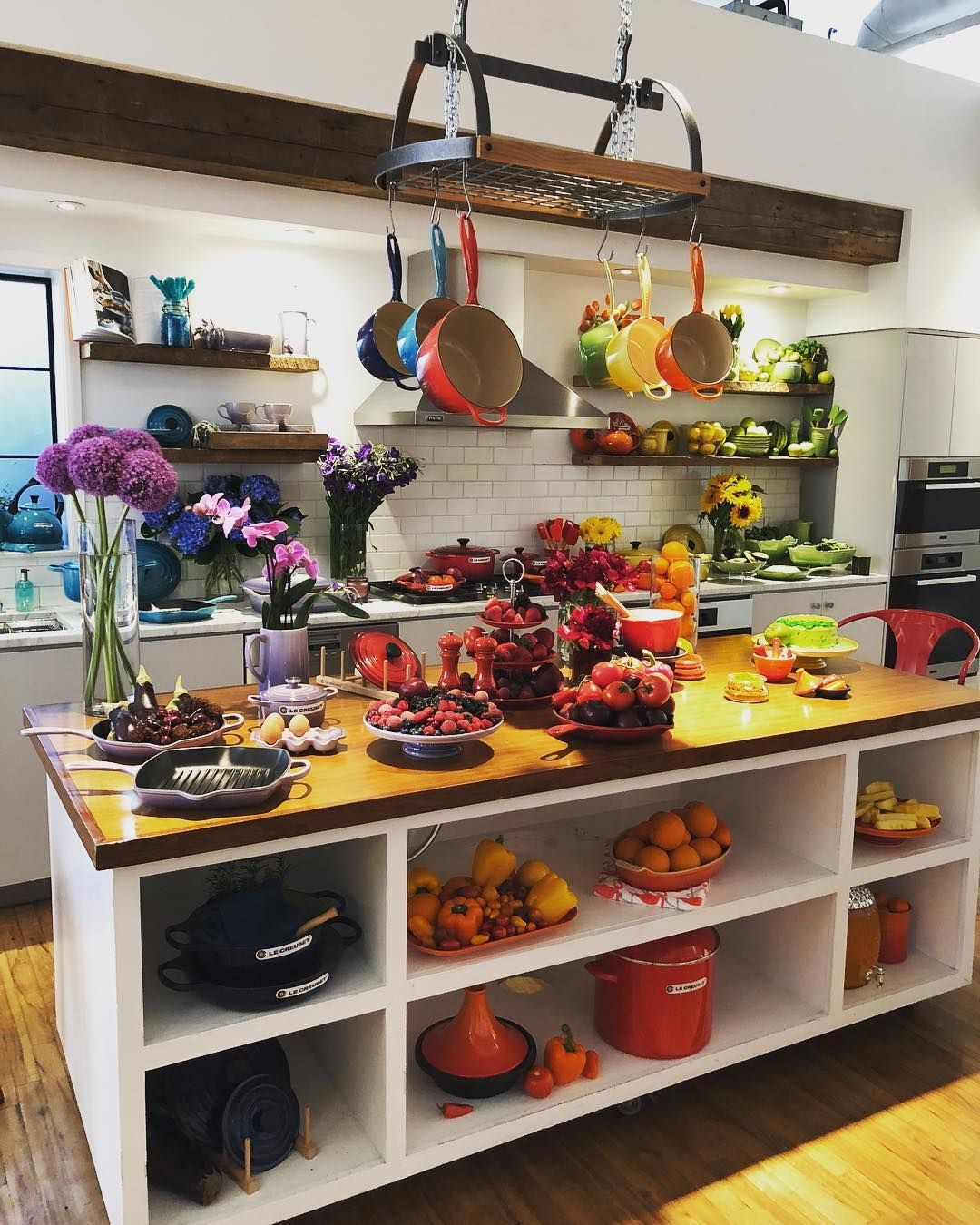 """Colorful Kitchen Supplies: Le Creuset On Instagram: """"Bringing The Whole Rainbow Of"""