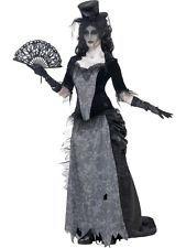 FEMALE GHOST TOWN BLACK WIDOW HALLOWEEN SMIFFYS FANCY DRESS COSTUME - 3 SIZES