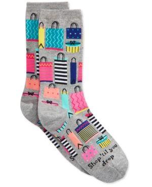 Hot Sox Women's Shop 'Til You Drop Socks - Gray