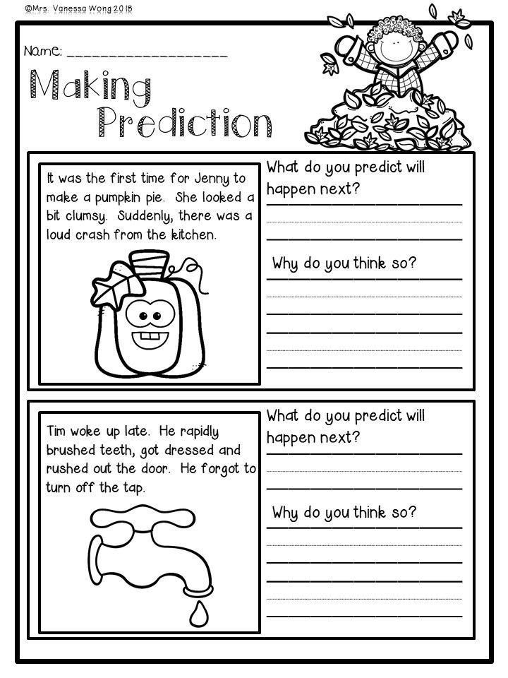 Fall Activities For Second Grade Math And Literacy No Prep Printables First Grade Writing Second Grade Math First Grade Reading