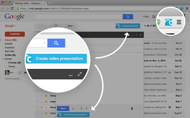 MoveNote- a must try video Chrome extension