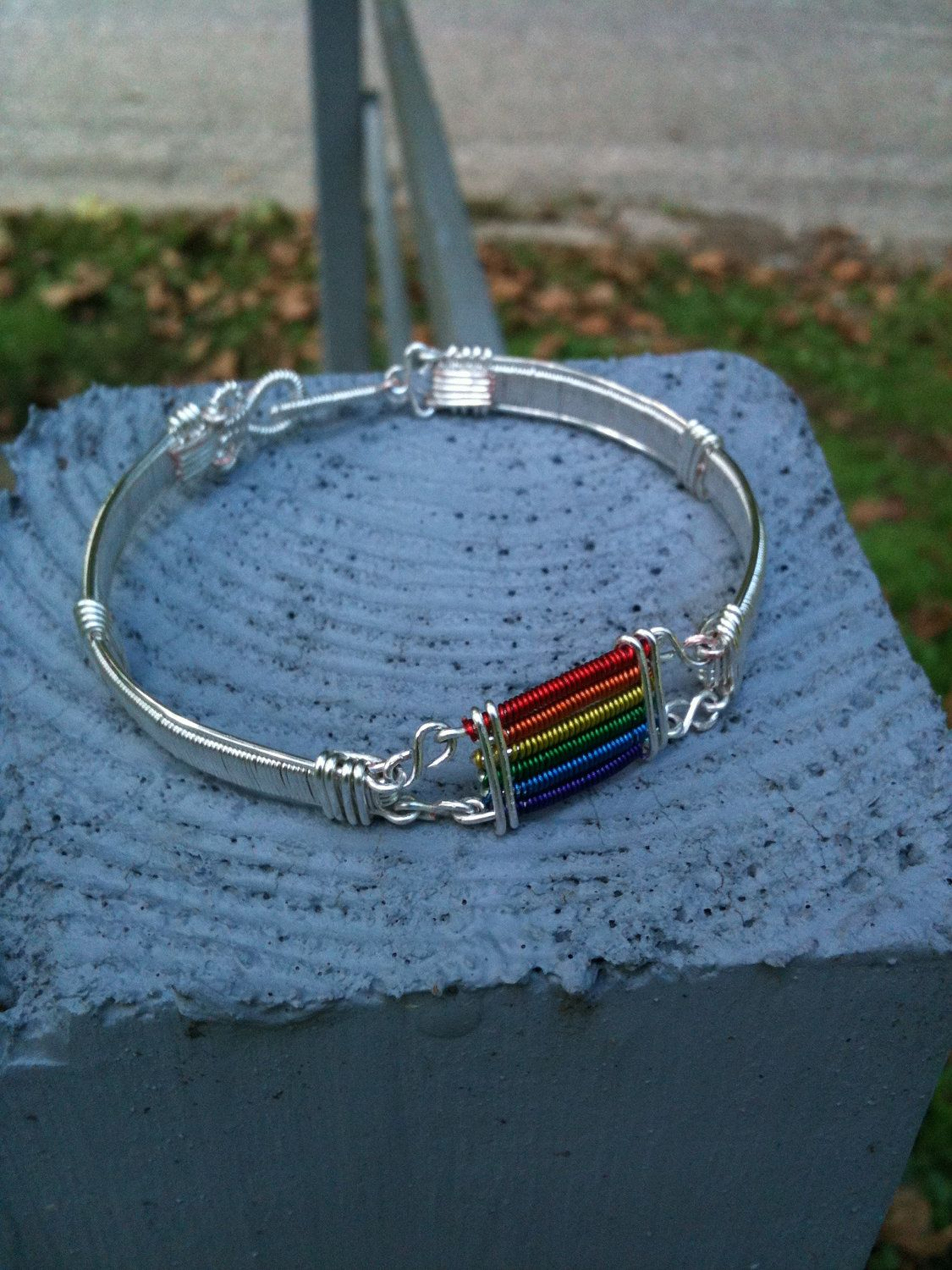Handmade item Materials: 20 gauge silver plated wire, 26 gauge ...