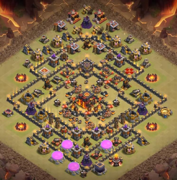 18 Best Th10 War Base 2019 New Anti 2 Stars Th10 Pinterest