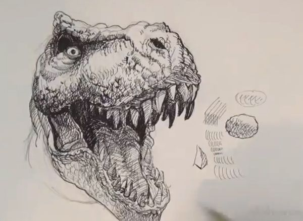 How to draw T-rex - drawing and digital painting tutorials online ...