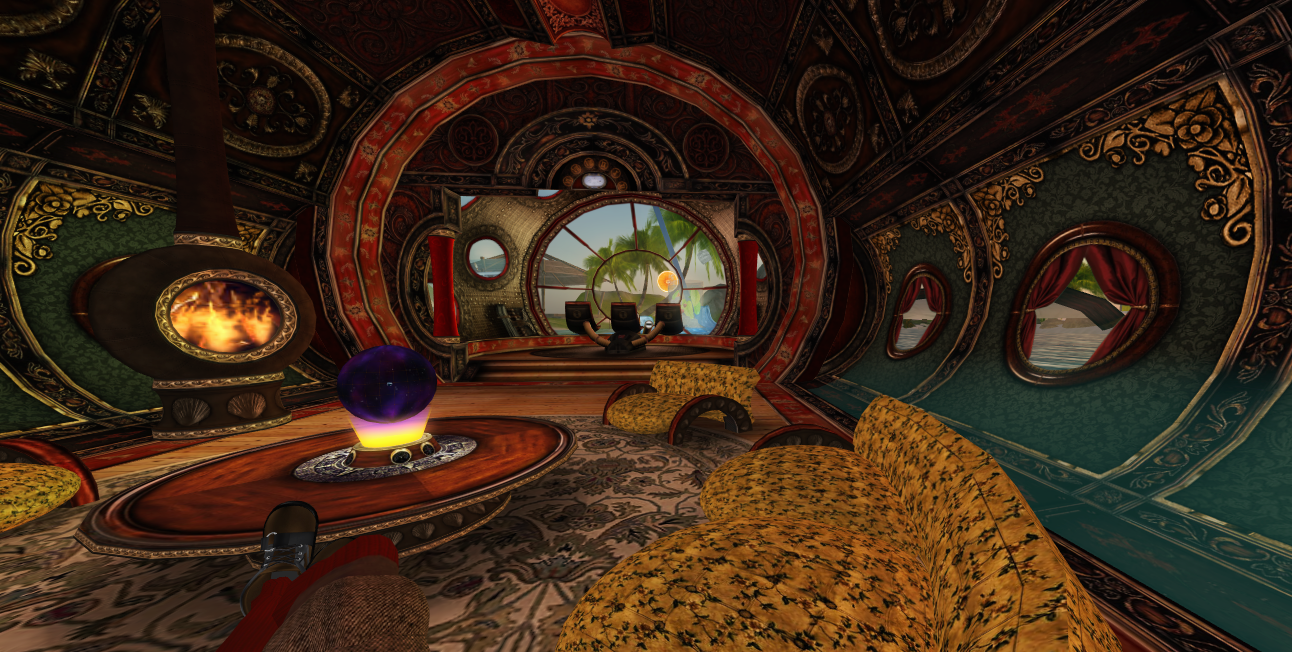The university of south florida in second life for Steampunk wallpaper home