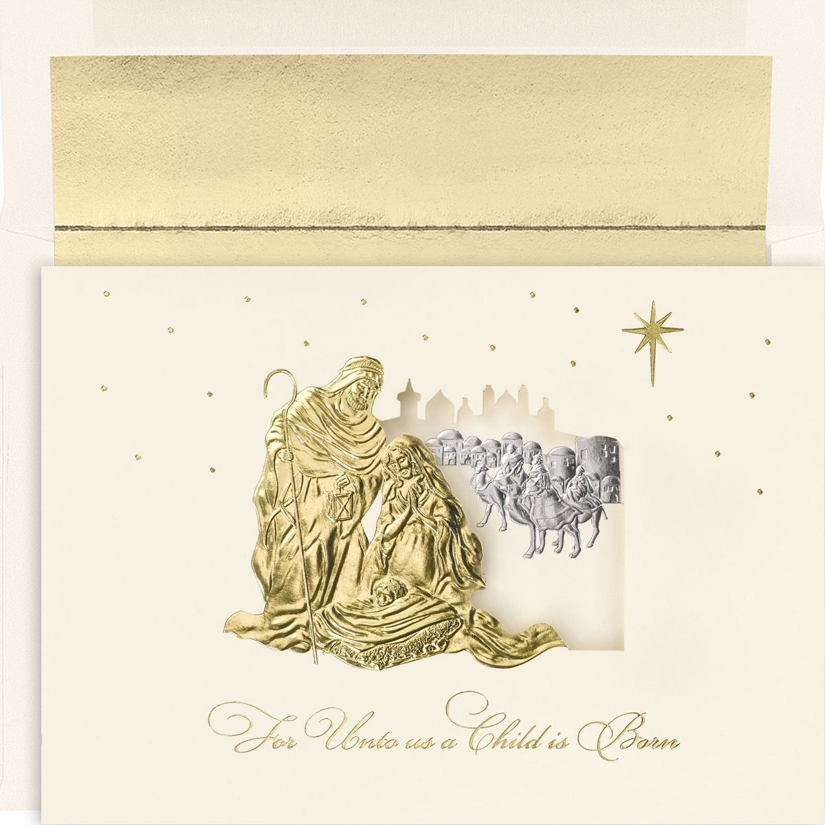 Holy Family DieCut Religious Christmas Card, 14.00 (http