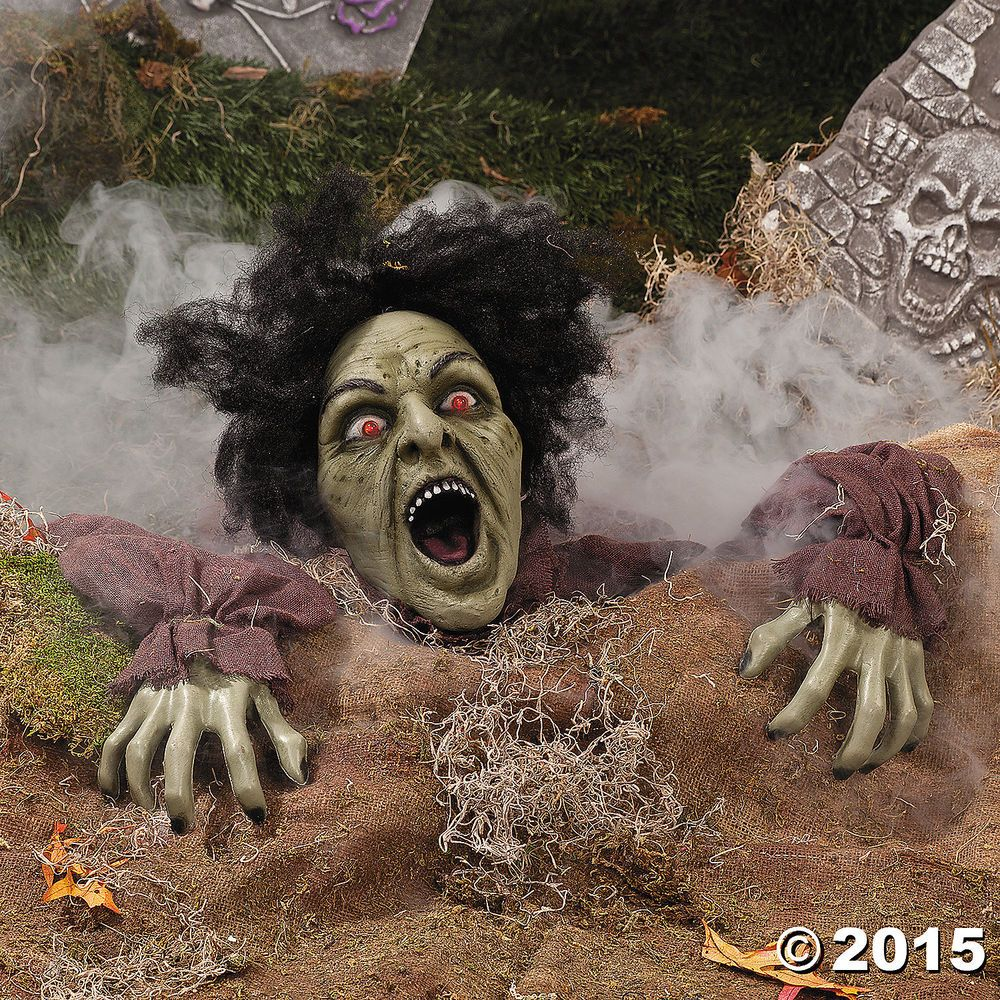 details about halloween decoration prop clawing zombie ground breaker led eyes sound - Zombie Halloween Decorations