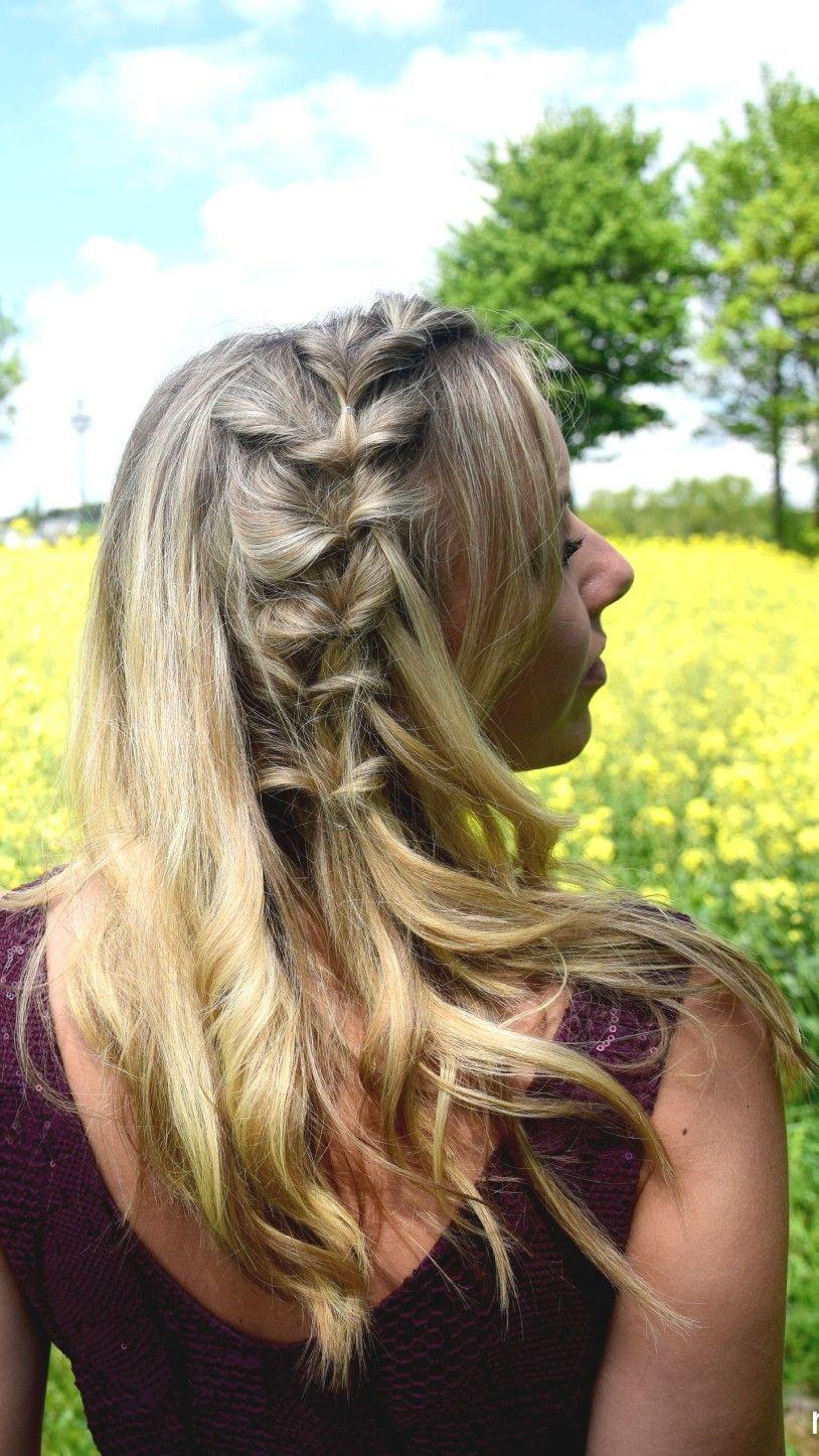 Halfup Side Pull Throughs Braids Life Frisuren Offene Haare Mittellange Haare Frisuren Einfach Frisur Offen Geflochten