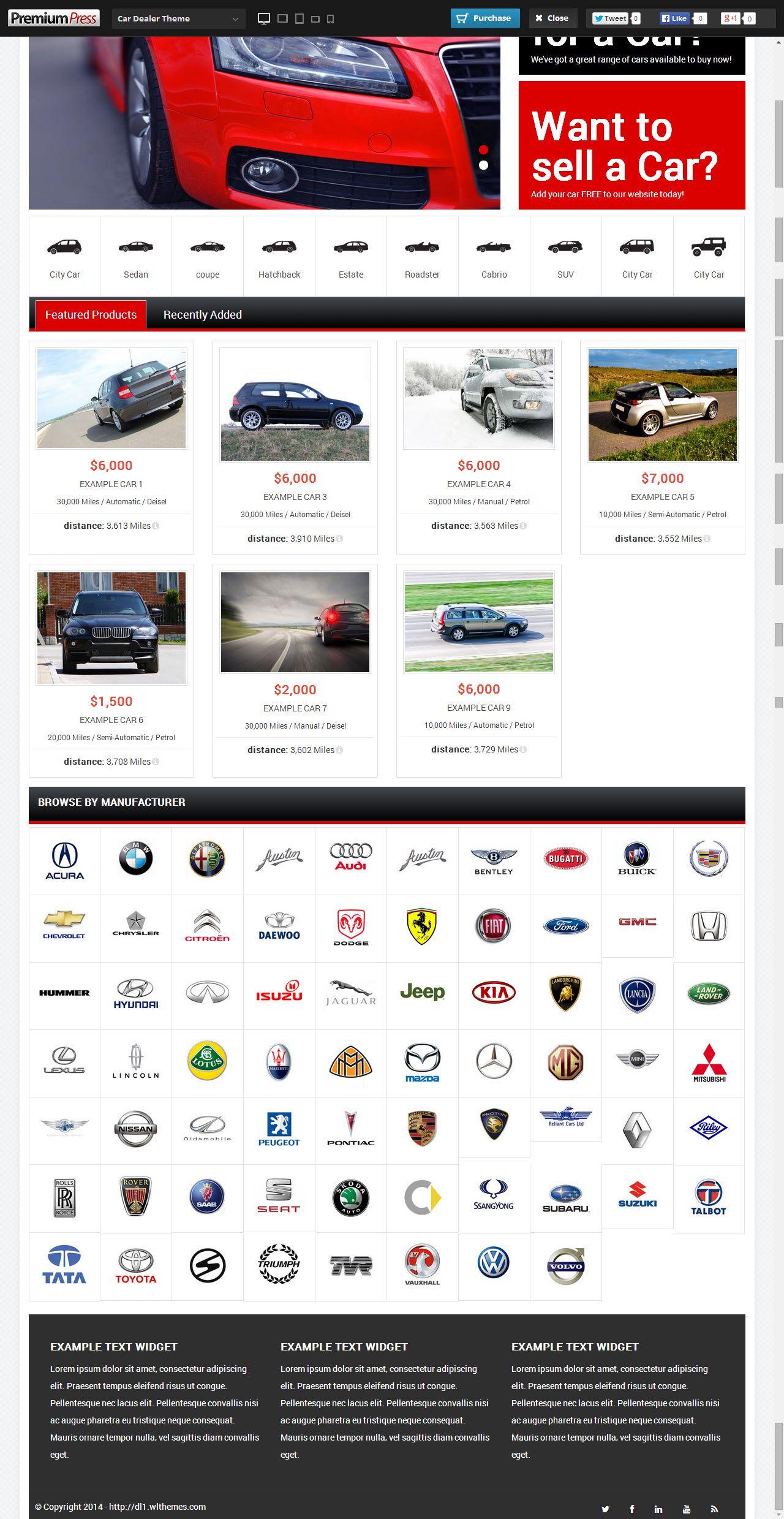 Car Dealer Theme from Premium Press - a cool wordpress theme.   Best ...