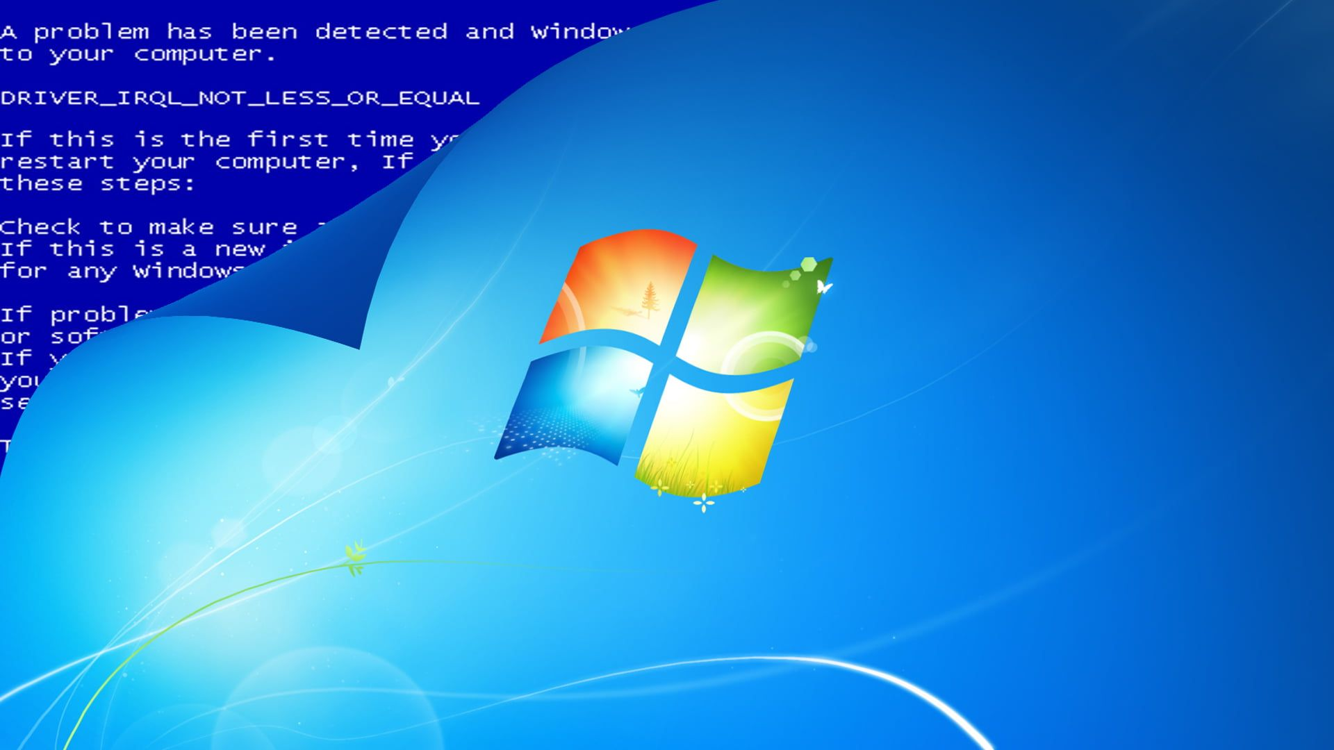 Yellow And Blue Led Light Digital Art Simple Background Text Windows 7 Logo Windows Errors Blue Backgroun Funny Wallpaper Simple Backgrounds Funny Wallpapers