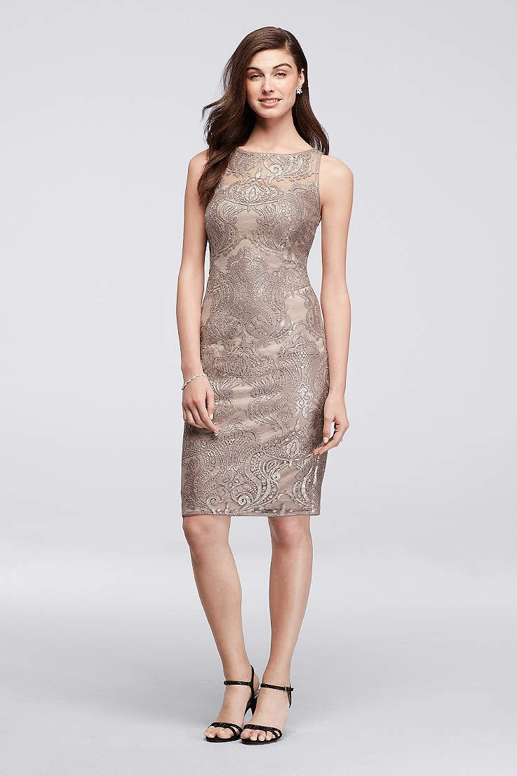 Picturing your bridal party in pretty sequin bridesmaid dresses