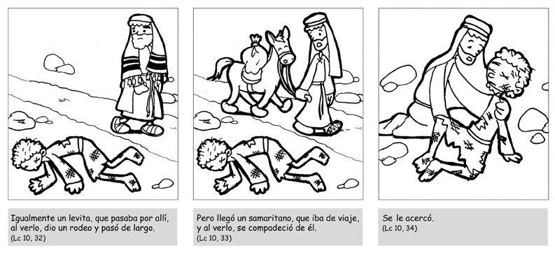 Dibujos para catequesis: PARÁBOLA DEL BUEN SAMARITANO 2 | CATOLICOS ...