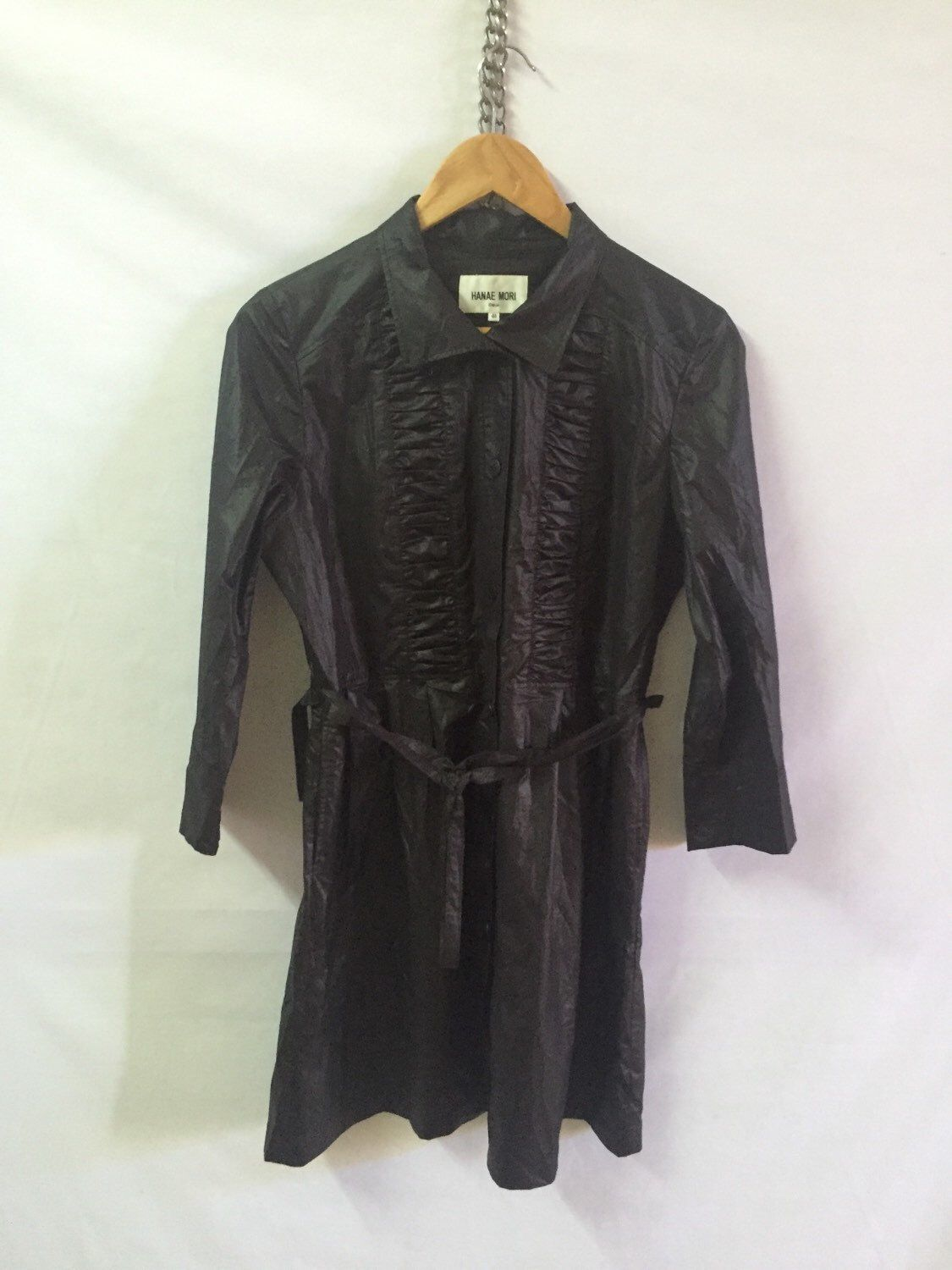 A personal favourite from my Etsy shop https://www.etsy.com/listing/398014517/hanae-mori-size-40-black-long-button