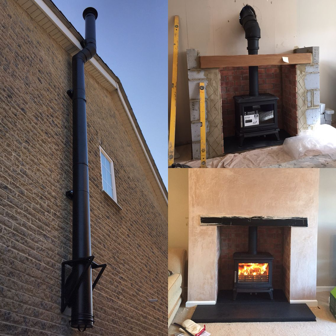 start to finish acr rowendale stove with honed granite hearth