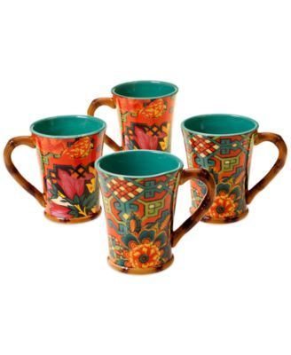 Tracy Porter Eden Ranch Set of 4 Mugs