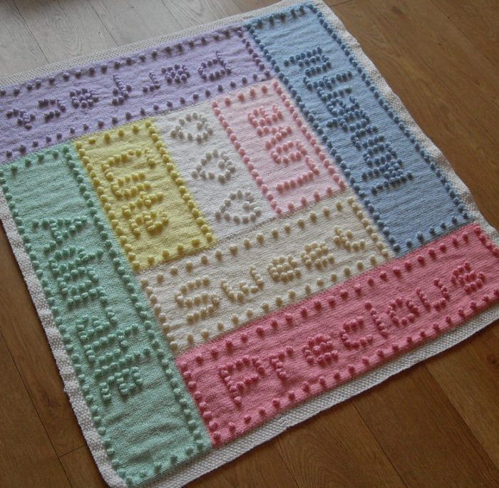 Knitting Pattern For Sweet Dreams Bobble Baby Blanket Baby Blanket