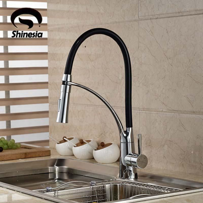 Visit To Buy Black And Chrome Finish Kitchen Sink Faucet Deck
