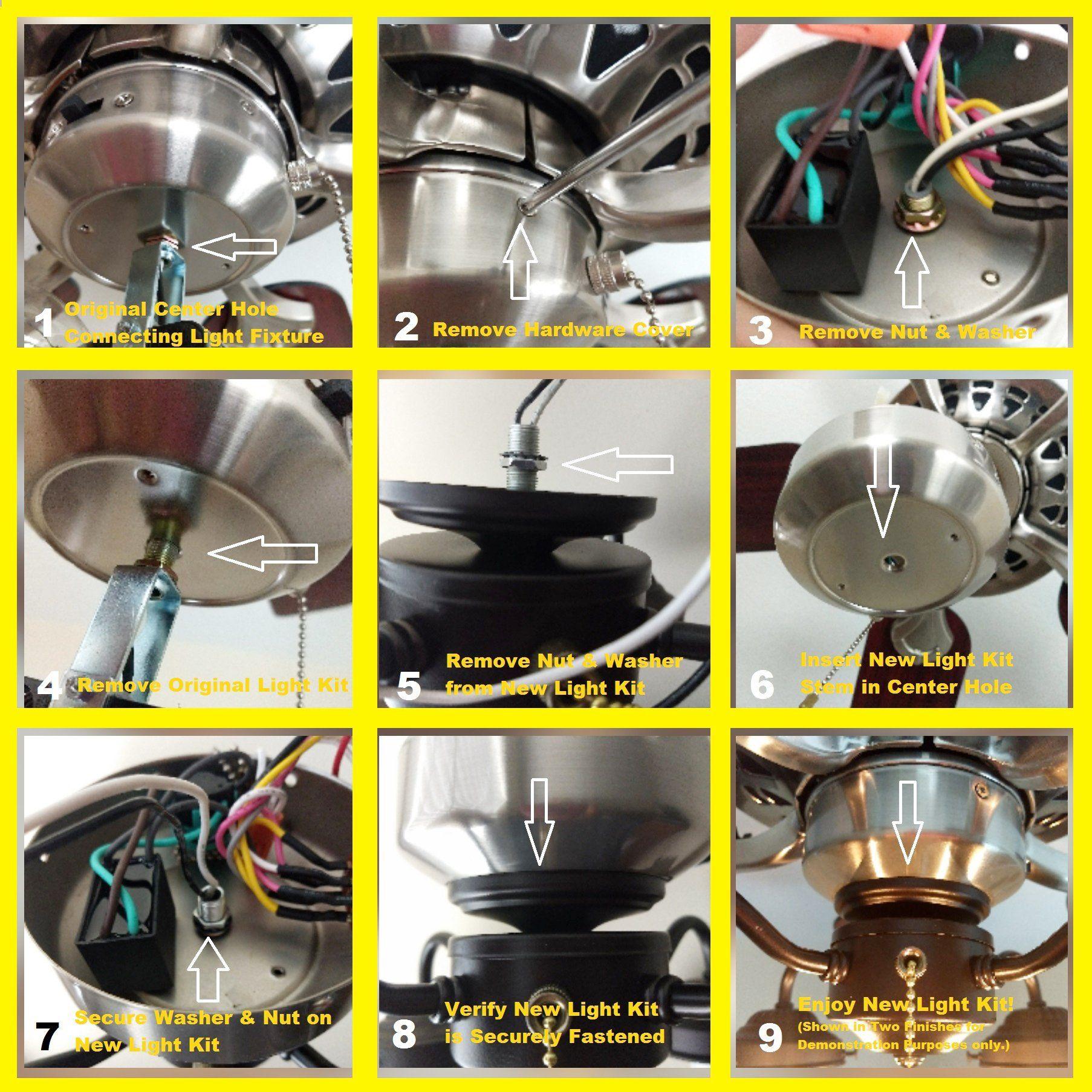 Ceiling Fan Light Kit Of Modern Milk Gl Globes
