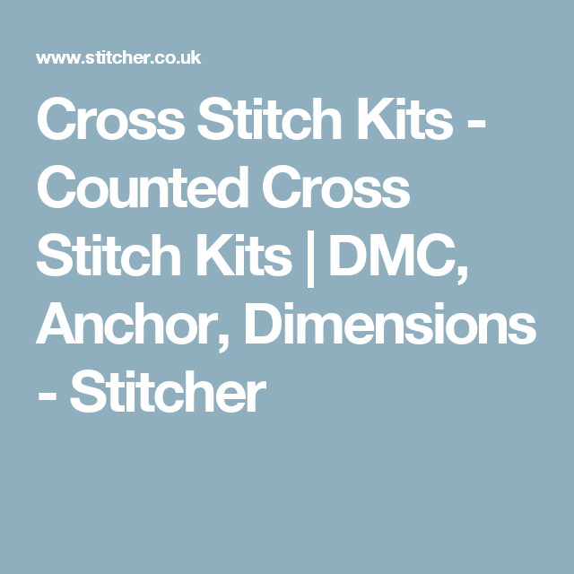 Cross Stitch Kits Counted Cross Stitch Kits Dmc Anchor
