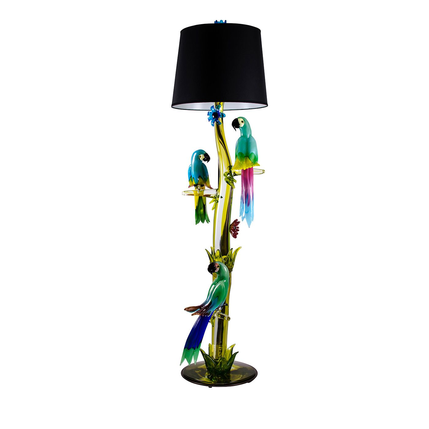 Murano Glass Parrot Floor Lamp Shop Timeless Lighting Handcrafted In Italy Chandeliers Pendant