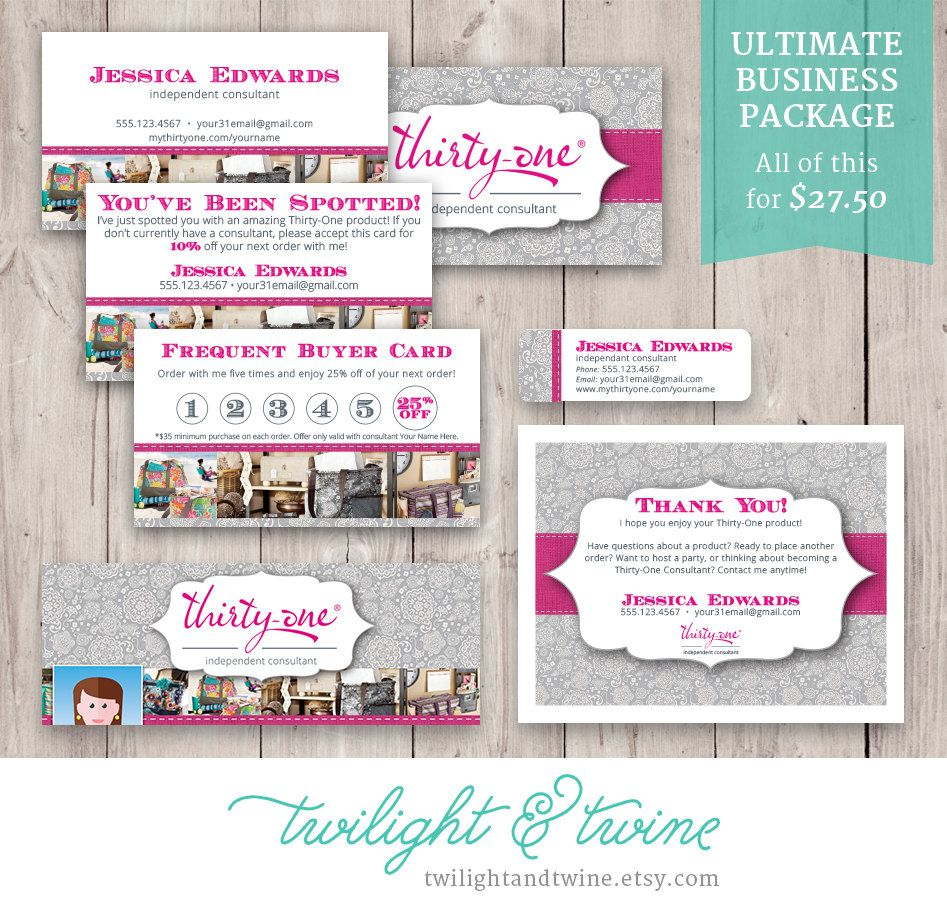 Thirty-one Ultimate Business Package (Business Card, Label, Facebook ...