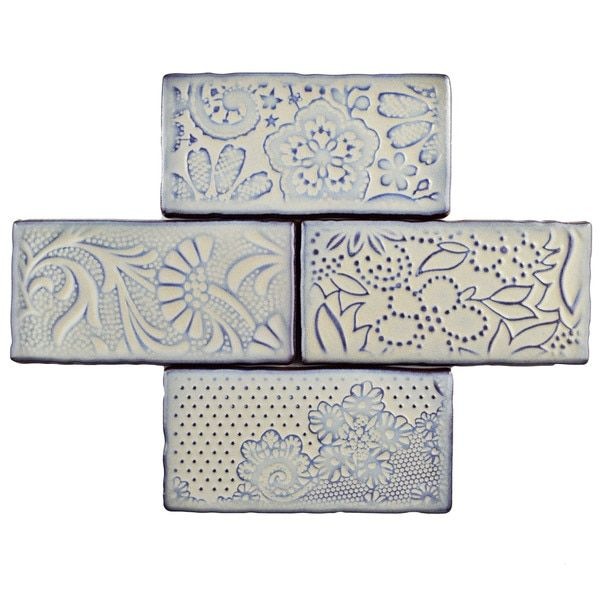 Somertile 3x6 Inch Antiguo Feelings Pergamon Ceramic Wall