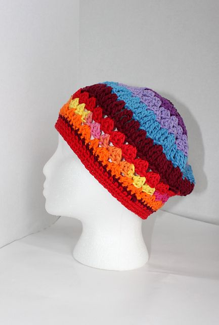 Chemo or Rainbow Hat pattern by Iryna Boehland ~ The pattern for ...